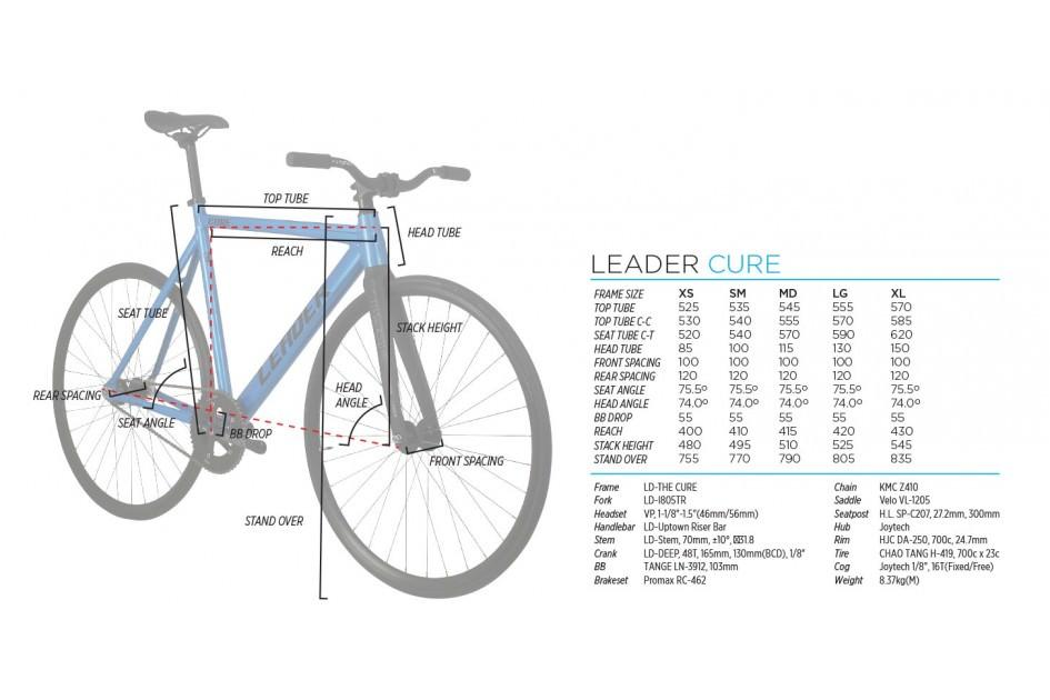 LEADER BIKES CURE 2016 COMPLETE BIKE ジオメトリー