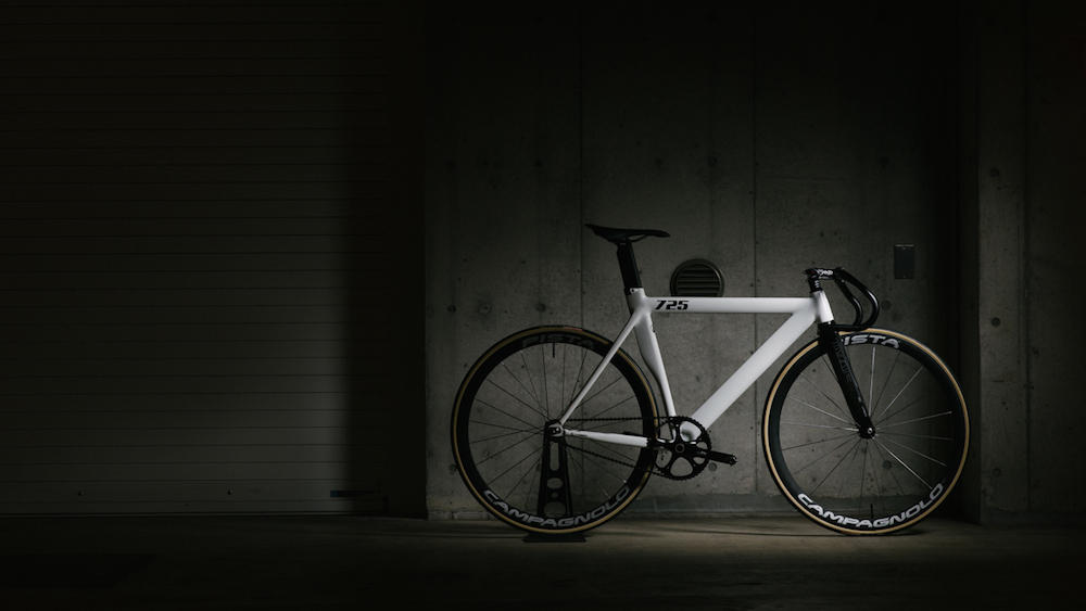LEADER BIKES 725TR BROTURES KICHIJOJI PISTA CAMPAGNOLO GLOSS WHITE FIXED FIXI CUSTOM HANDLE SADDLE FREAM