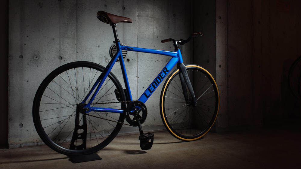LEADER BIKES BROTURES KICHIJOJI SAX BLUE FIXED FIXI SINGLE GEAR