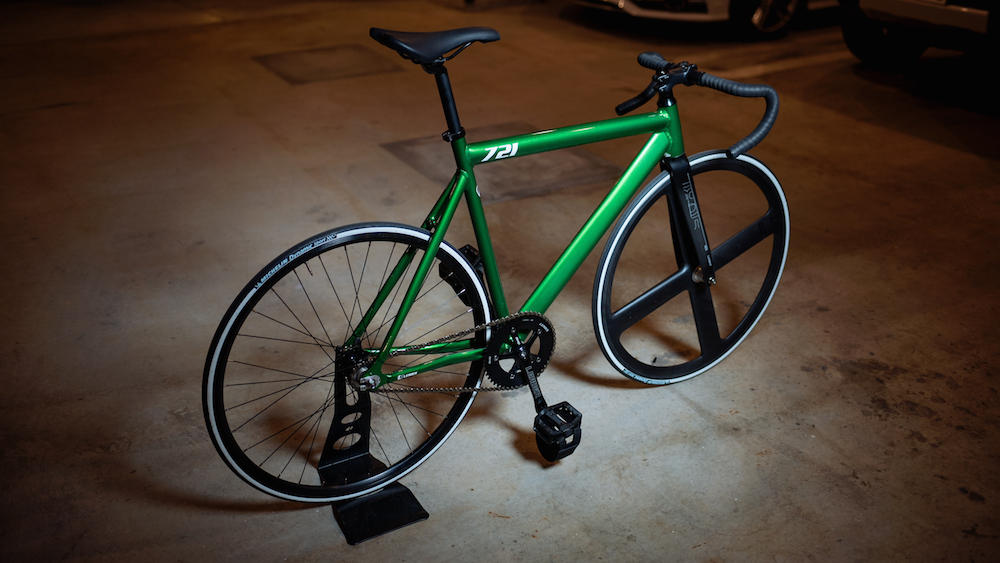 BROTURES KICHIJOJI LEADER BIKES 721TR ENTRY CANDY GREEN T4 CARBON WHEEL