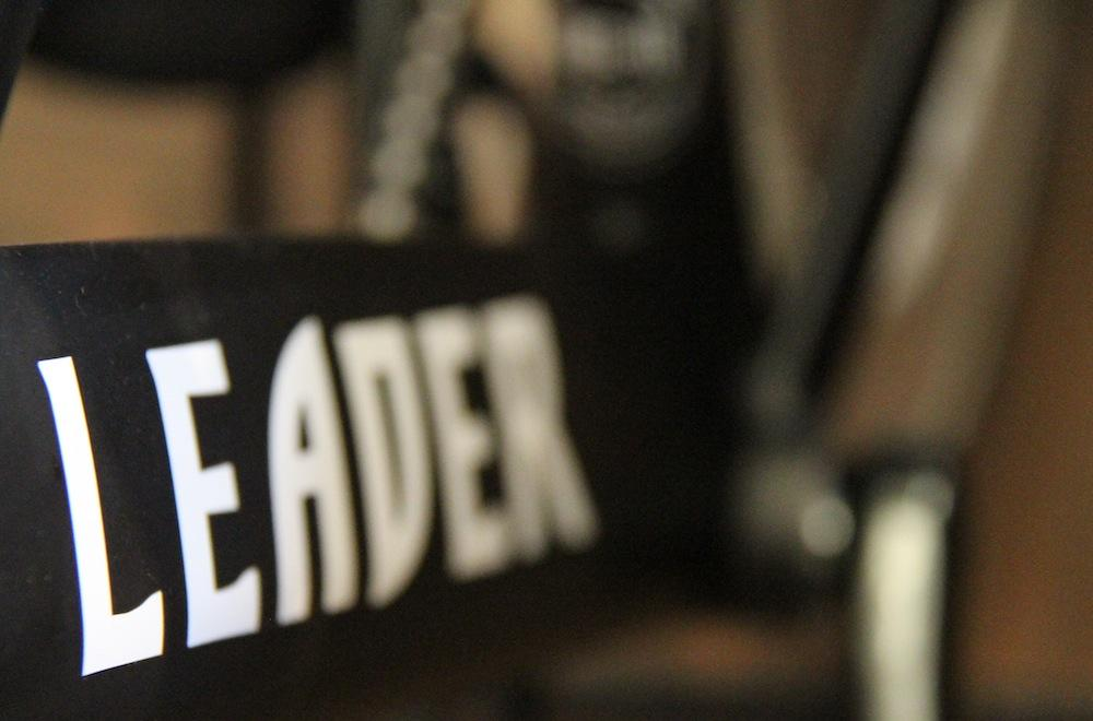 LEADER DOWNTUBE DECAL.